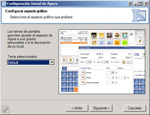 Software Agora Restaurant Professional - Personalización completa de la interfaz de trabajo